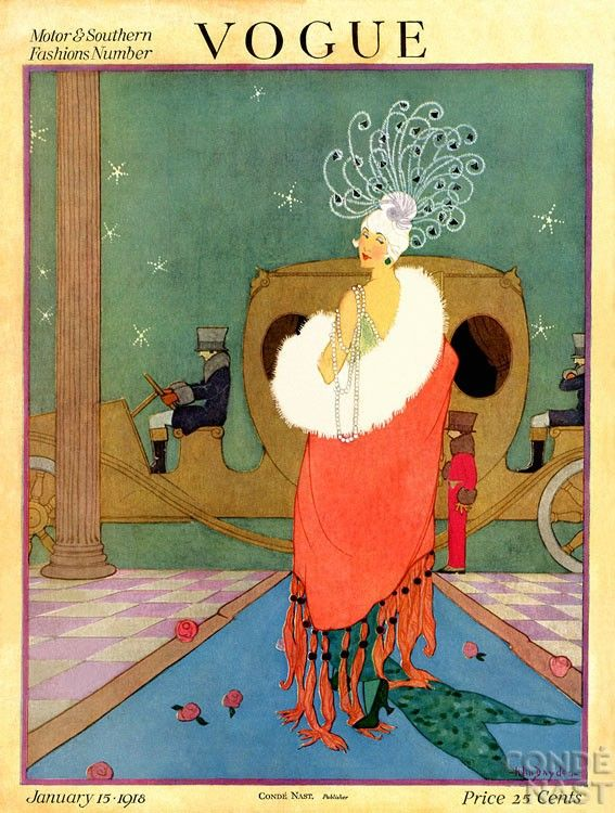Vogue Cover January, 1918.