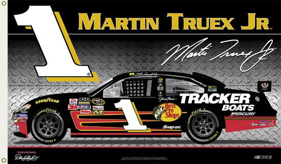 Martin Truex Jr. TRUEX NATION Giant 3'x5' NASCAR Flag - available at www.sportsposterwarehouse.com
