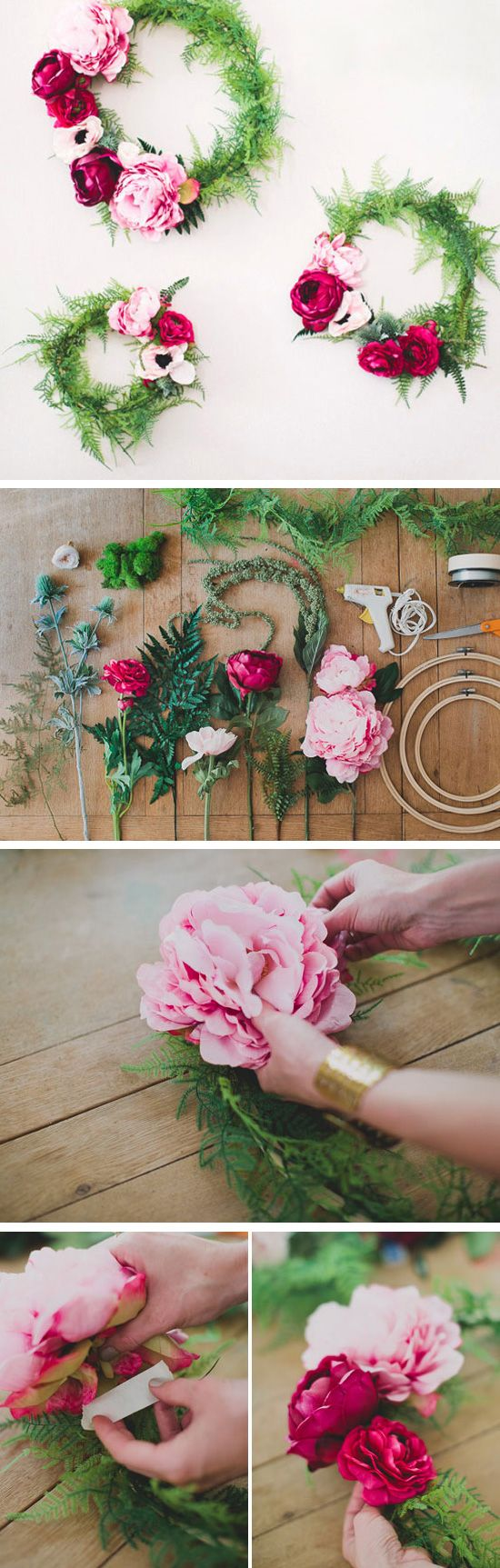 DIY Silk Flower Wreath | Click Pic for 24 DIY Spring Wedding Ideas on a Budget | DIY Spring Wedding Flowers Ideas