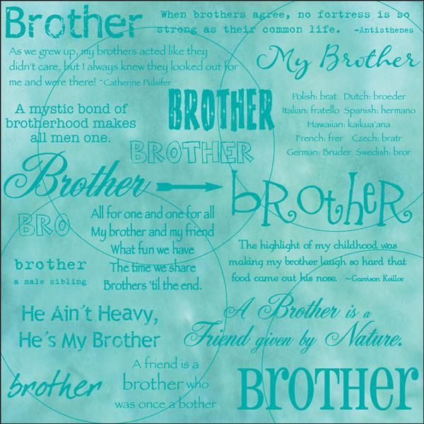 "Brother 12"" x 12"" Scrapbook Paper"