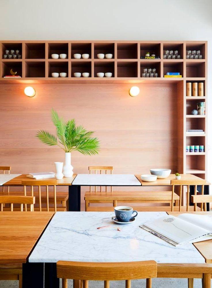 Современный ресторан Dig Inn открылся в Rye Brook, штат Нью-Йорк, США и разработан студией ASH NYC Designs