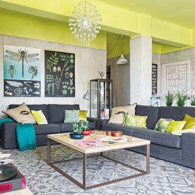 17 mejores ideas sobre sof s grises en pinterest - Dormitorio gris perla ...