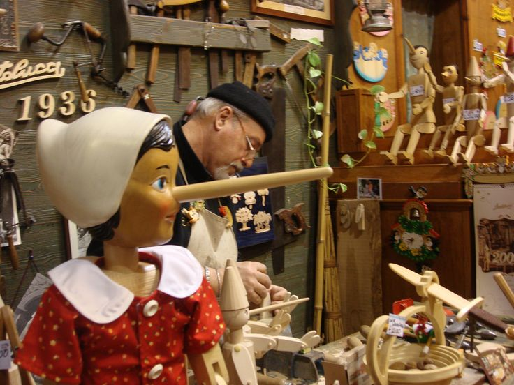 Bartolucci in Roma, Italy.. a place you must visit when in Rome. They make real Pinocchio's ~ We went back many times to this shop.. http://www.bartolucci.com/EN/Home.html