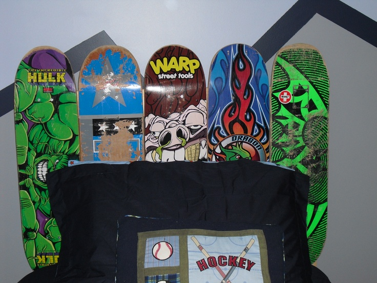 DIY Skateboard Headboard