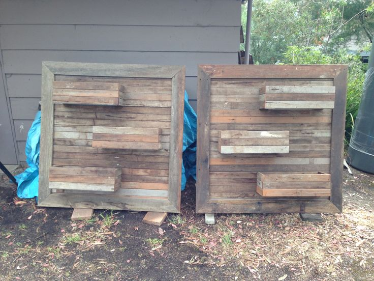 Planter boxes I made with my brother in law from old decking timber