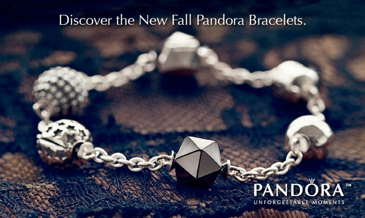 Pandora Charm Bracelet, silver and gold, intermixed, on a braided black rope. love it.