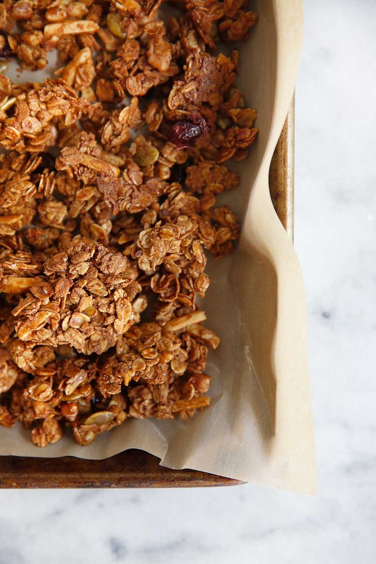 This easy gluten free ranola recipe is the perfect morning or mid-day treat loaded with fiber, antioxidants, and protein! It is a great refined sugar-free granola recipe that is a staple in our kitchen.