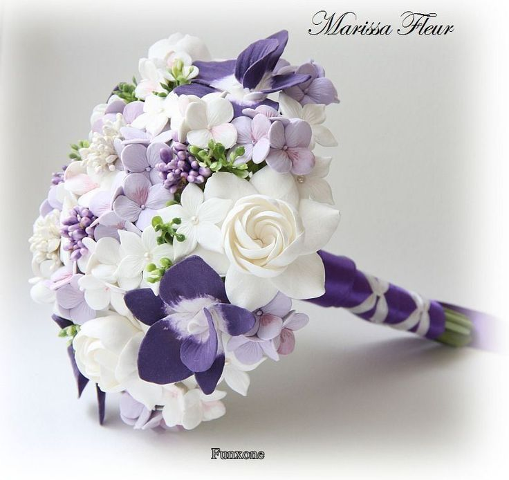 Purple wedding Flowers 02