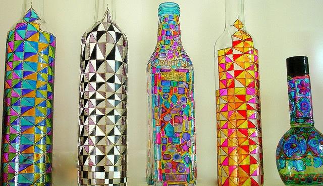 Bemalte Flaschen