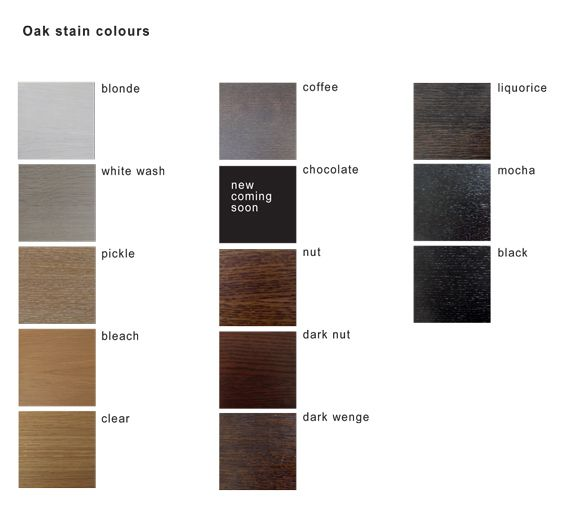 Oak Stain Colours