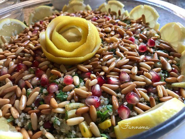 سلطة الكينوا بالصنوبر والرمان Food Salads Salad