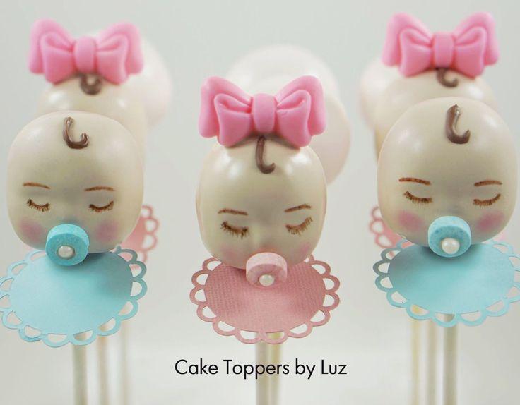 Gender Reveal Cake Pops. Baby Shower Ideas