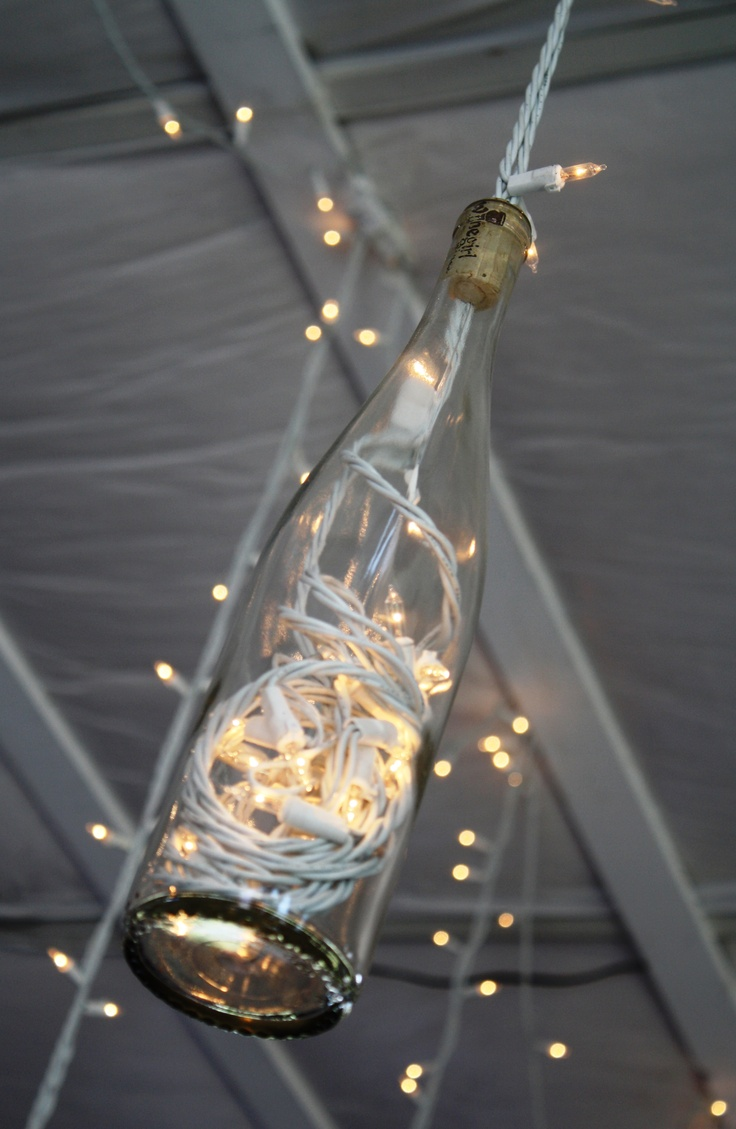 1000 images about christmas light ideas on pinterest for Wine bottle patio lights