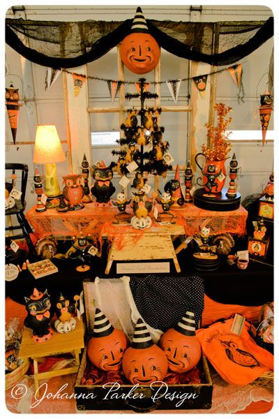 johanna parker halloween backdrop by johanna parker design via flickr halloween backdropvintage halloween decorationsretro