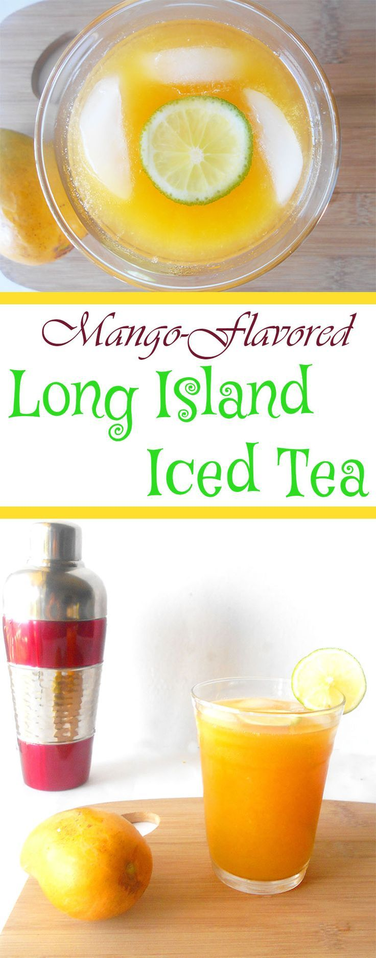 This is a regular long island iced tea with a little Mango liqueur added to it.  This cocktail recipe is a perfect summer tequila drink. It is a quick drink recipe because it takes only 15 min to make