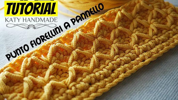 Tutorial uncinetto punto fiorellini (o thai) a pannello   Crochet    Kat...