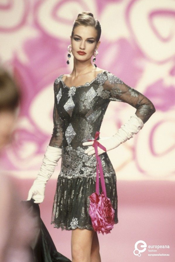 Karen Mulder, Valentino, Autumn-Winter 1991, Couture