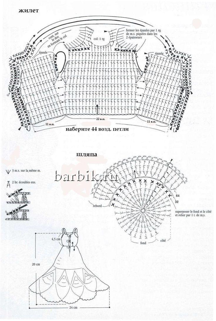 схемы вязания кукол на пальцы