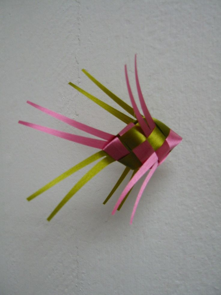how to make fish out of ribbon