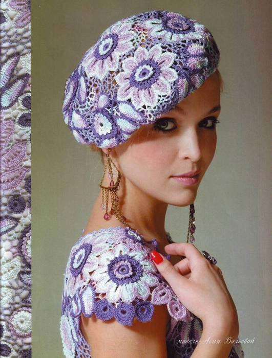 Crochet Irish Lace Dress and Beret