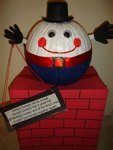 pumpkin idea turn a pumpkin into humpty dumpty - Pumpkins Decorations