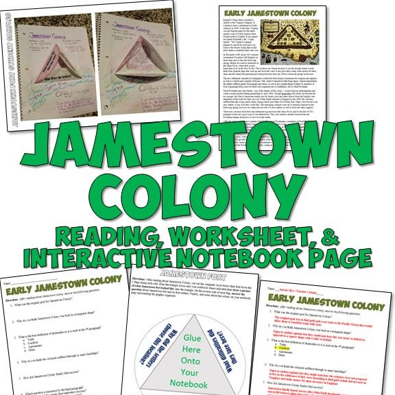 Printables Jamestown Worksheet 1000 ideas about jamestown colony on pinterest 13 colonies this fantastic resource for teaching features a 1 page reading the colony