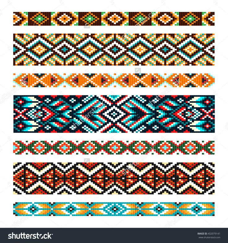 Beading Design, Tribal Design, Tribal Beads, Bead Necklace, African Beads, Ethnic Seamless Pattern, Embroidery Cross, Squares, Diamonds, Chevrons. Beads, Bracelet, Ribbon, Lace, Bead Weaving. Illustration vectorielle libre de droits 402079141 : Shutterstock