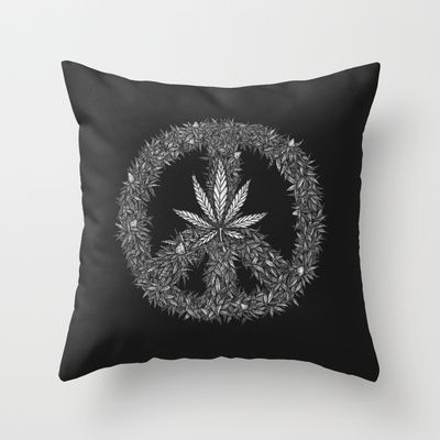 Green Peace Throw Pillow by Tomas Jordan - $20.00