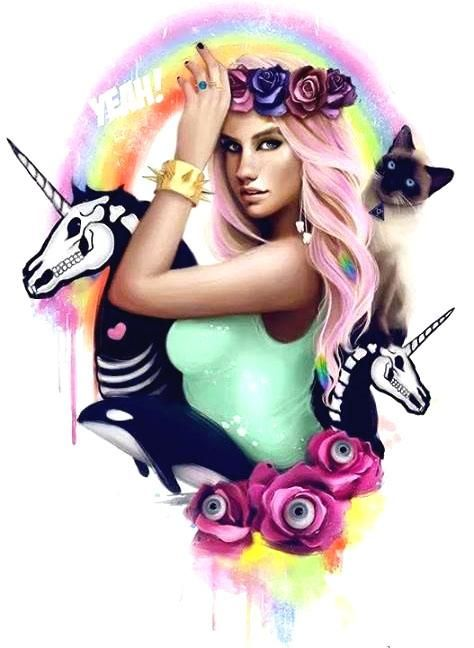Kesha fan art. #Kesha #Fanart #Art