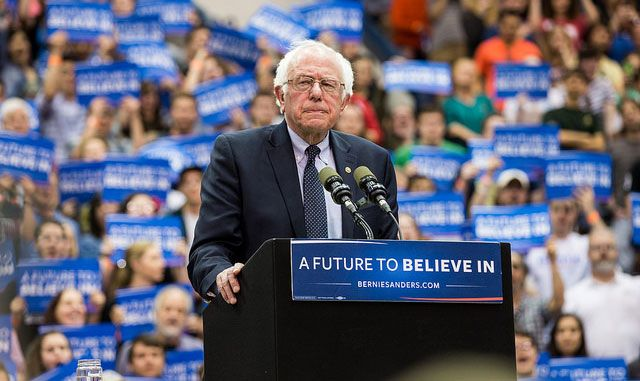 Bernie Sanders isn't giving up, and he exhorts those who believe in a just, equitable US to continue the struggle.