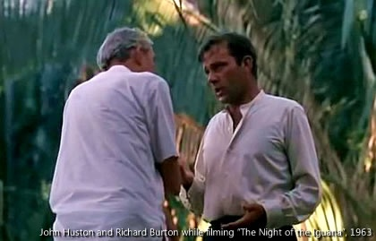 "John Huston and Richard Burton between shots of ""The Night of the Iguana"" http://www.puertovallarta.net/fast_facts/the-night-of-the-iguana.php"