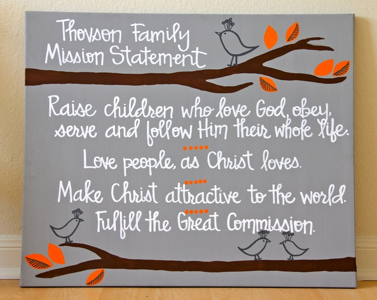 35 Best Family Mission Statements Images On Pinterest Family