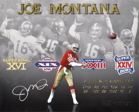 San Francisco 49Er Super Bowls | Joe Montana San Francisco 49ers 4x Super Bowl Stats Autographed Photo ...