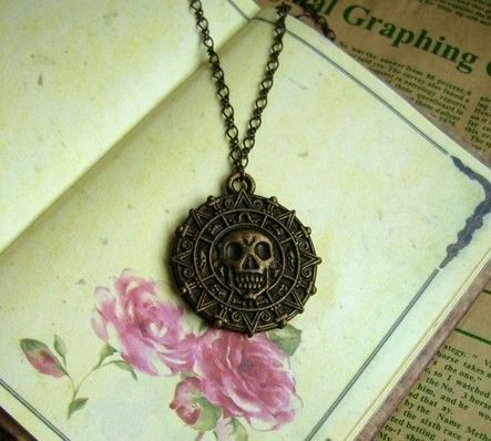 Pirates of the Caribbean punk necklace by PrincessYoung on Etsy, $19.90