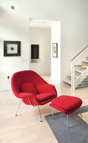 Via Modern Findings (Tumblr) | Midcentury | Red Saarinen Womb Chair
