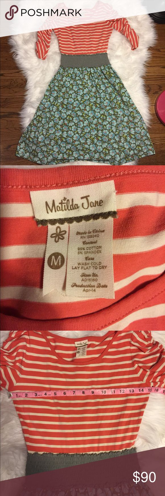 Matilda Jane women's empire waist dress medium Knee length, 3:4 sleeves, in great used condition. No rips or stains. See photos for measurements. Matilda Jane Dresses Midi