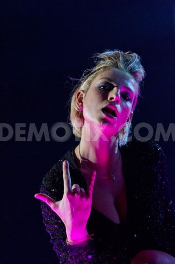 Emma Marrone live on stage at Gran Teatro in Rome