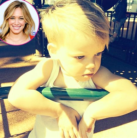 Hilary Duff Instagrammed this adorbs pic of her 2-year-old Luca!