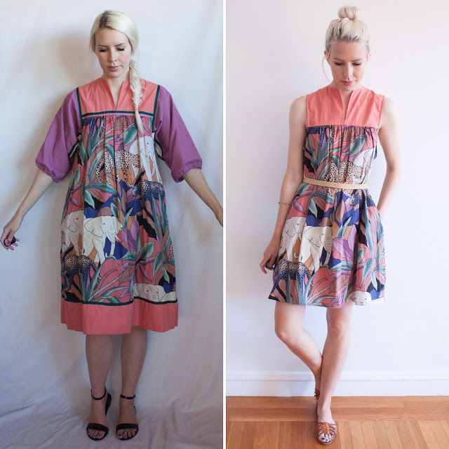 Refashion Co-op: Safari Animal Dress Makeover