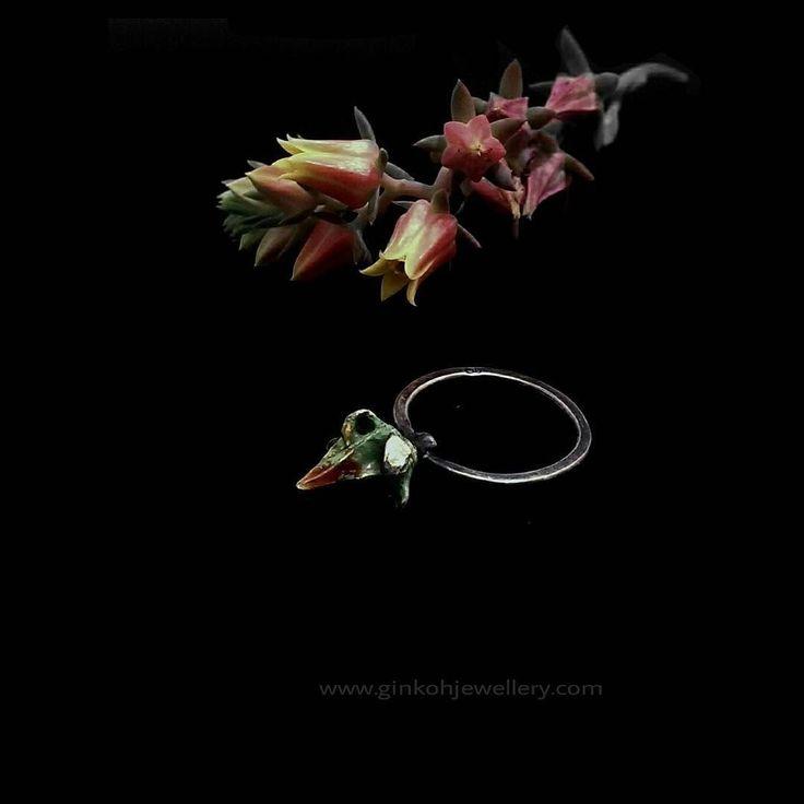 #handmadejewellery #earthy #rustic #handcrafted #succulents #garden #flowers #silverring #red #green #enamel #anglesea #Torquay #victoria #australianmade by ginkoh_jewellery http://ift.tt/1KosRIg