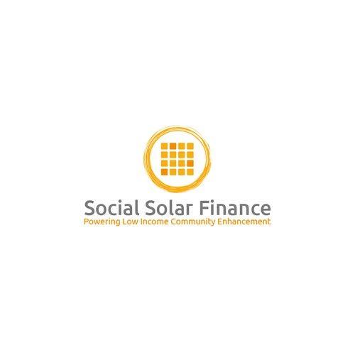 Social Solar Finance �20Logo design for social enterprise powering low-income community enhancement with solar energy