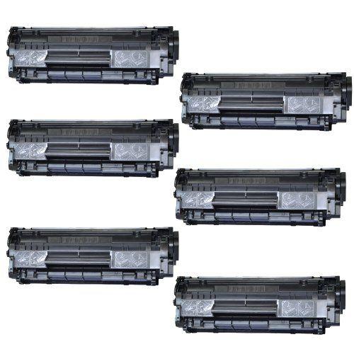 Selectec for Canon 104 FX-9 FX-10 0263B001A Black Laser Toner Cartridges Compatible with FaxPhone L90, L120, ImageClass D420, D480, MF4150, MF4350d, MF4370dn (6 Pack)