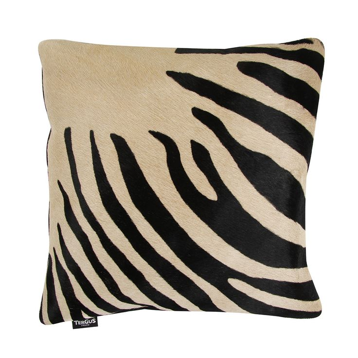 Discover+the+Amara+Zebra+Print+Cow+Skin+Cushion+-+45x45cm+-+Black+/+Beige+at+Amara