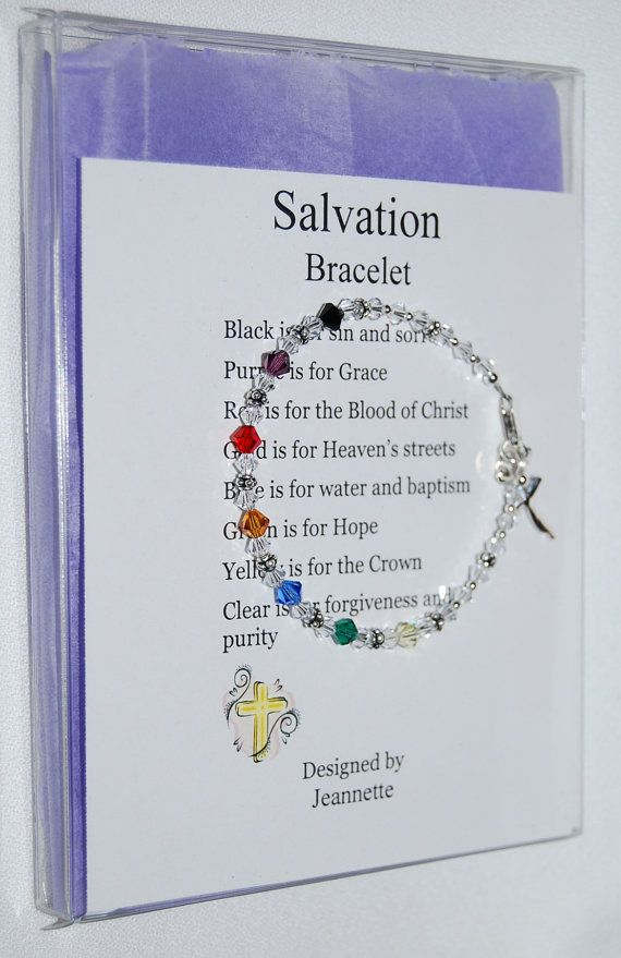 Swarovski Crystal Salvation Bracelet Artist Inspired in Gift Box. $25.00, via Etsy.