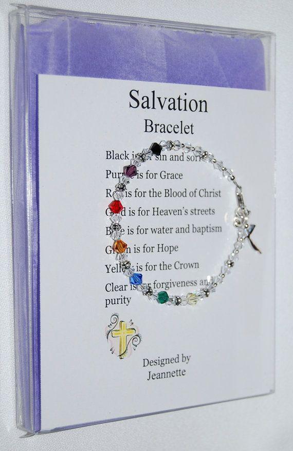 Swarovski Crystal Salvation Bracelet Artist Inspired in Gift Box. $25.00, via Etsy.