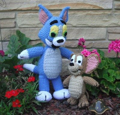 A Cat and A Mouse 2 Crochet Patterns by Erin by ErinScullsToyStore, $7.00