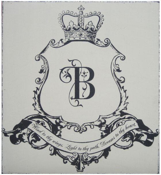 monogrammed family crest