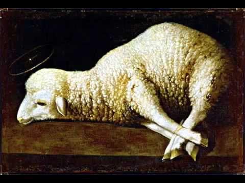 Agnus Dei (Lamb of God) (arreglo del Adagio para cuerdas), para coro mixto y piano opcional u órgano. 1967.