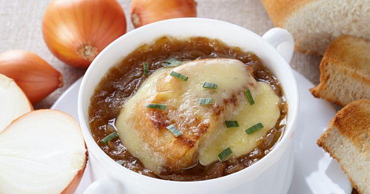 Peu de temps pour cuisiner et une folle envie d'une soupe à l'oignon...voici la solution !