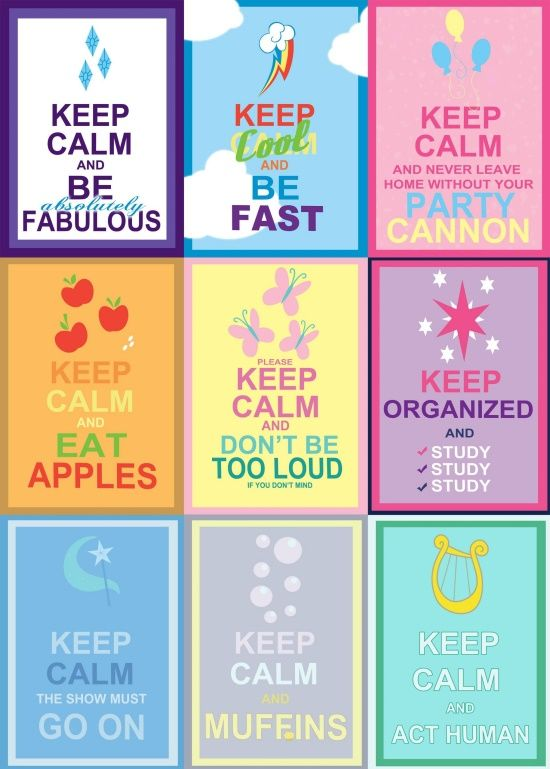 My Little Pony Printable Signs